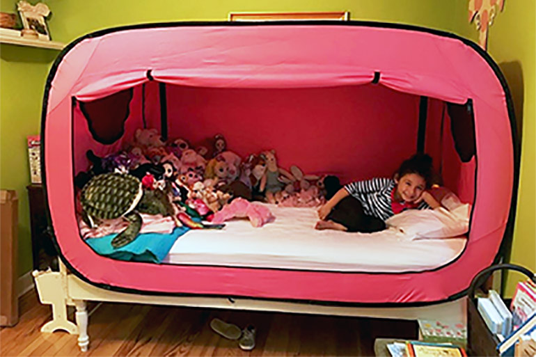 Parents Swear This Weird Pop Up Bed Tent Keep Kids In