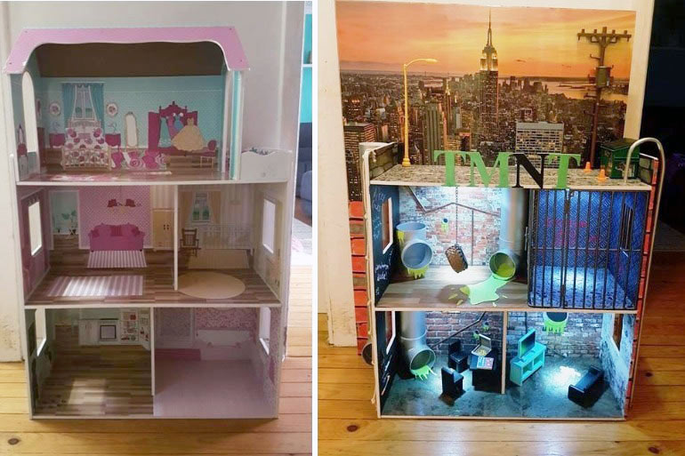 Kmart Dollhouse Hack Parents Made This Dollhouse Into A
