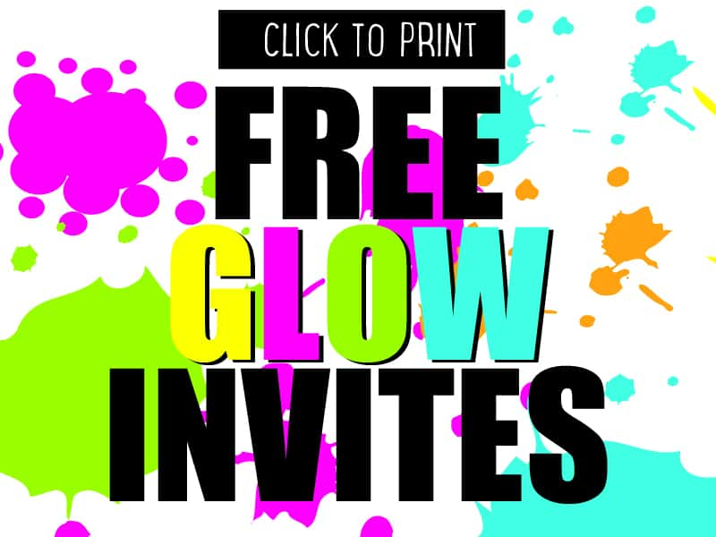 DIY glow party invites to download and print for free Mumlyfe