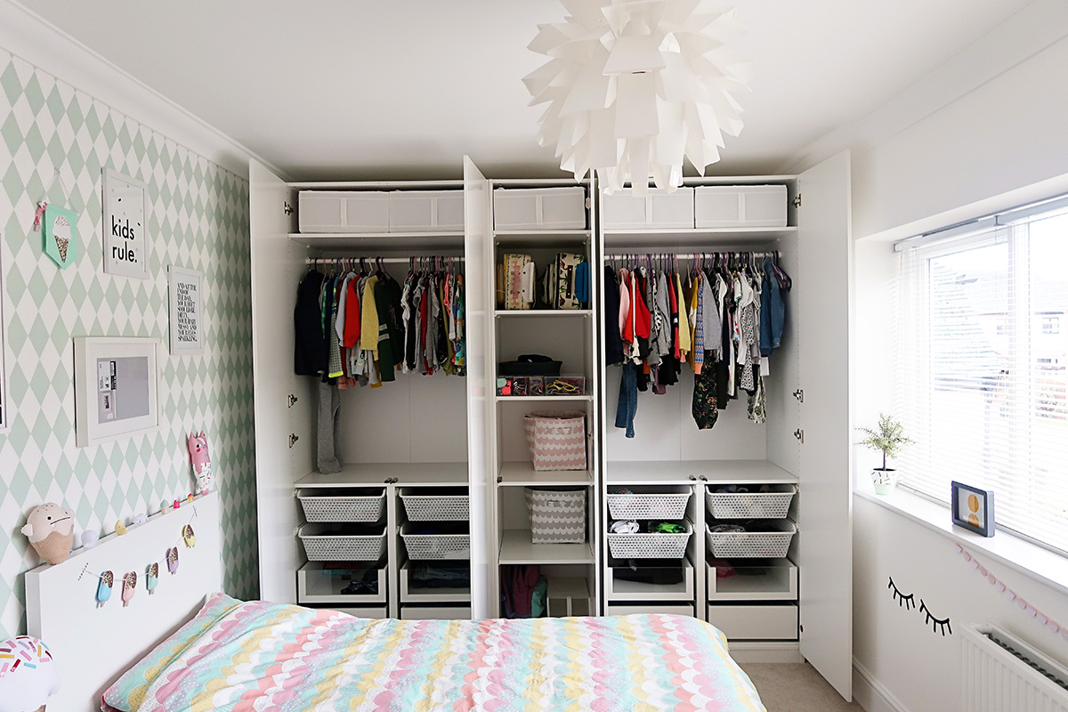 Ikea System Organising My Girls Wardrobes Ikea Pax System Home Renovation