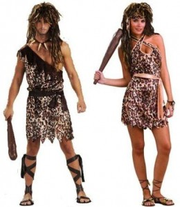 CAVEMAN AND CAVEWOMAN COSTUME SET