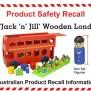 Latest Australian Product Safety Recalls