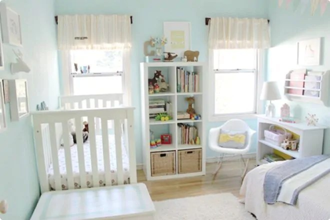 Baby Im Schlafzimmer Oder Kinderzimmer Room For Two: 19 Beautiful Baby And Toddler Shared Bedrooms