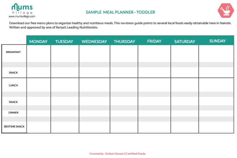 Weekly Calendar For Toddlers Free Printable Weekly Chore Calendar Free Printable Meal Planner Toddler Blank Mumsvillage Mumsvillage