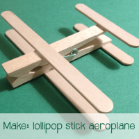 Make: lollipop stick aeroplane