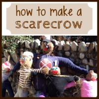 Autumn activities: how to make a scarecrow