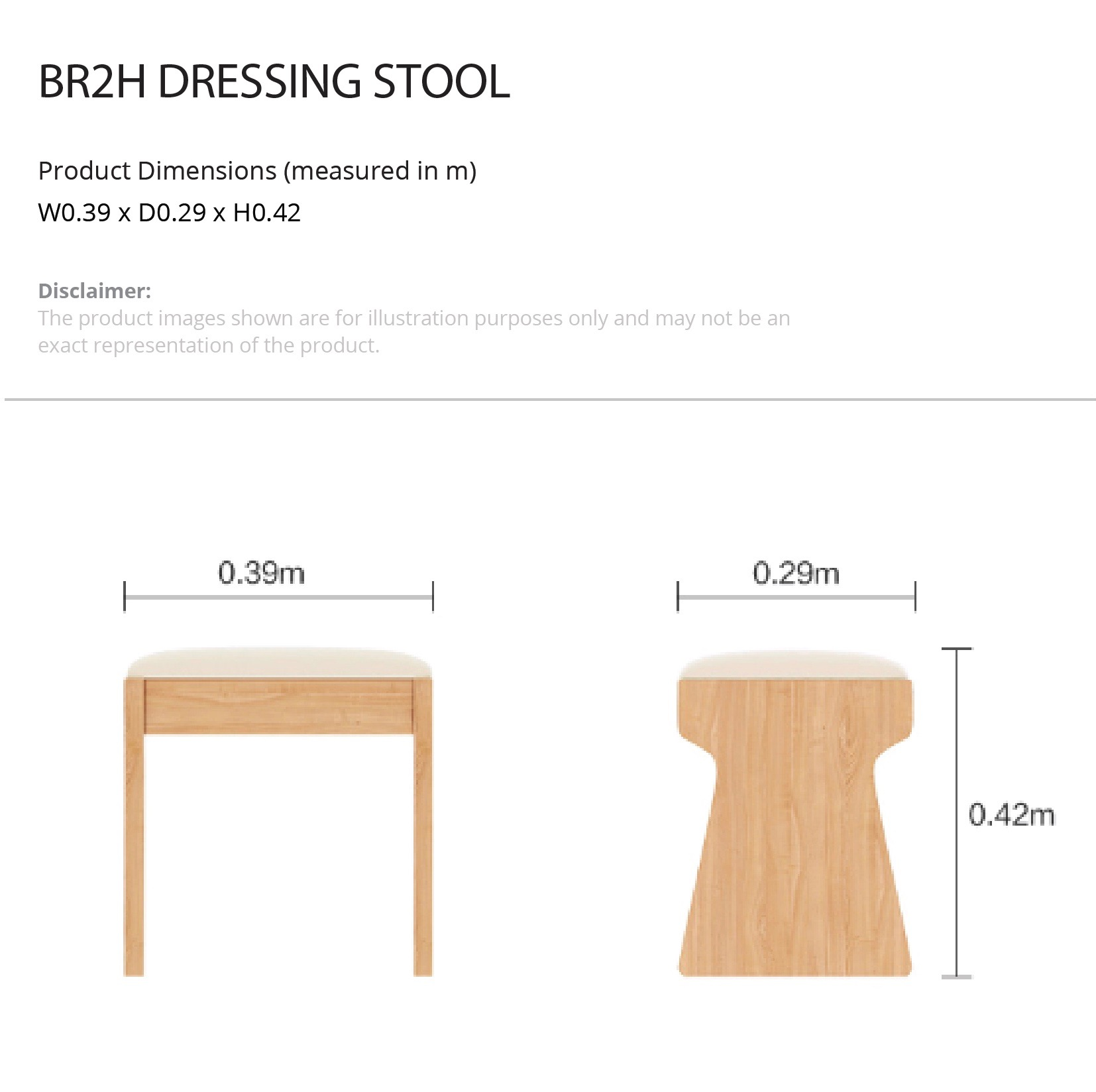 Dimension Dressing Kanto Simple Dressing Table Dressing Stool Set Mumu Living