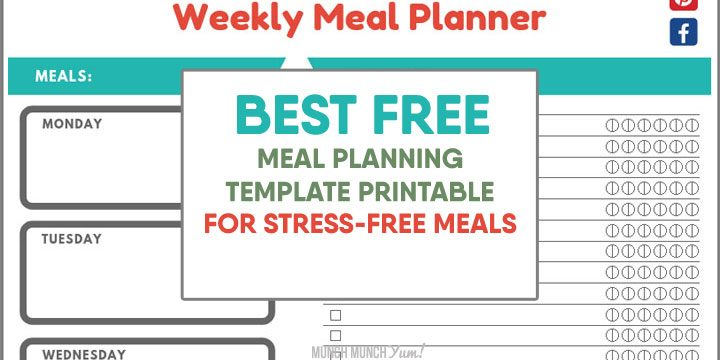 SUPER EASY Meal Planning for Beginners + FREE Menu Planner Template
