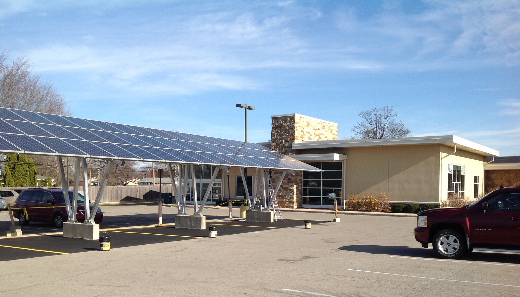 Ruoff Solar Kennedy Library Solar Carport Muncie Journal