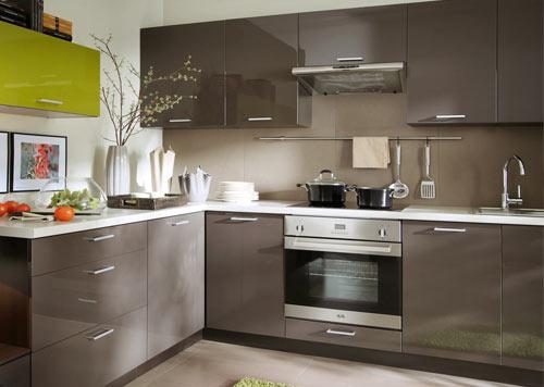 Nobilia Küche Grau Hochglanz
