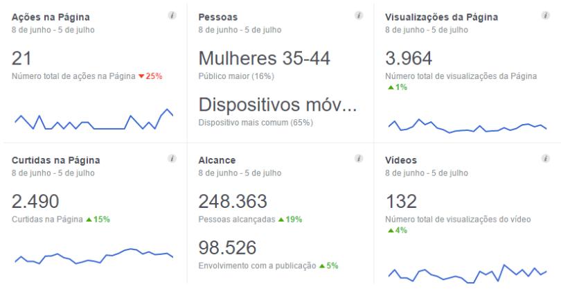 Dados do público do Mundo-Nipo no Facebook: de 08 de junho a 05 de julho de 2016