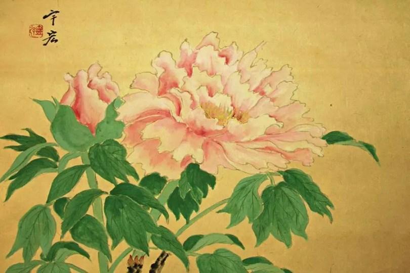 Peônia japonesa, obra do artista Ukoh (Foto: Jyuluck-do)