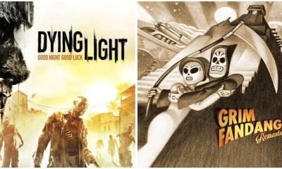 Jogos Dying Light e Grim Fandango Remastered (Imagens: Divulgação/ Edição MN)