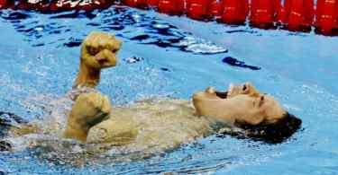 Kosuke Hagino conquista ouro nos 400 medley (Foto: Kyodo)