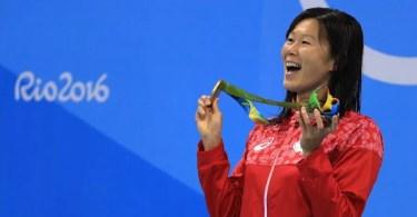 Rie Kaneto leva ouro nos 200m peito nos Jogos Rio 2016 (Foto: Asahi/Getty)