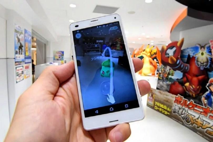 Usuário de Pokémon Go encontra um Bulbasaur em uma departamentos em Tóquio (Foto: Takuya Isayama/AJW Images)