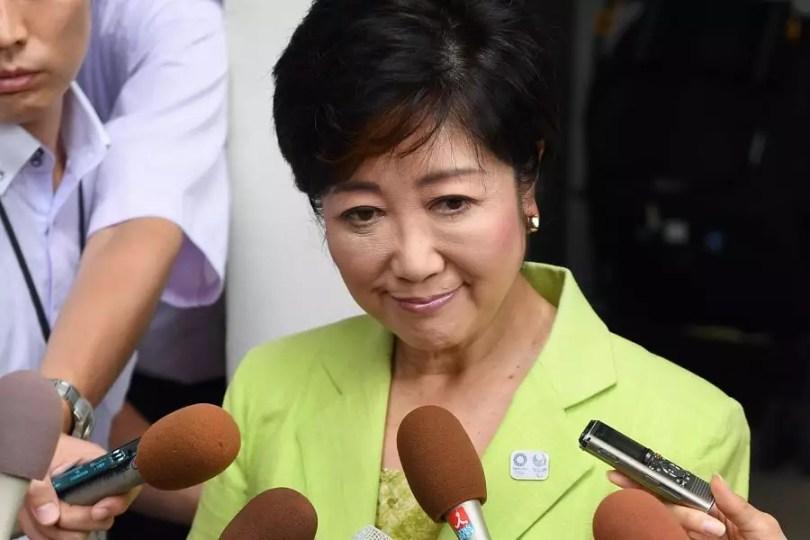 Yuriko Koike manifestou preocupação com os custos do evento, que estão muito superiores aos inicialmente previstos. (Foto: Kyodo)
