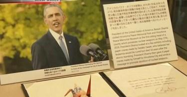 O origami foi feito por Obama durante sua visita a Hiroshima, em maio (Foto: Reprodução/NHK)