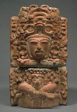 Incensario Maya con una figura sentada 2, foto por odisea2008.com