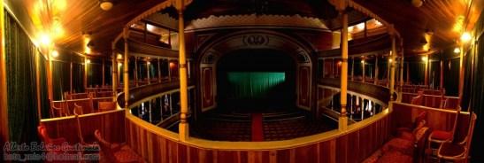 Interior del Teatro Municipal de Quetzaltenango, es un centro cultural ubicado en el centro histórico. Fue inaugurado el 19 de Julio de 1895 y reinaugurado el 20 de Noviembre de 1908 con la fachada actual - foto por Beto Bolaños