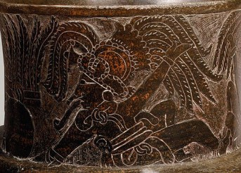 Jarra con grabados Mayas, foto por odisea2008.com