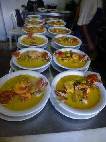 Tapado en restaurante Happy Fish en Livingston - foto por Happy Fish Travel