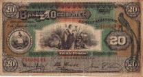Billete de 20 pesos, 1949 - foto por Eventos Teaz