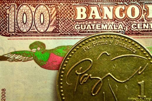 Moneda de Guatemala - foto por Roberto Al Varez