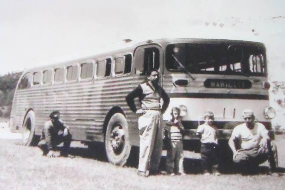 recuerdos - Bus de Transportes Los Halcones, 1961 - a Huehuetenango - foto por Transportes Los Halcones