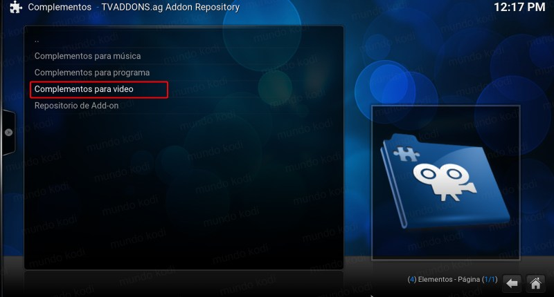 tv time en kodi. complemento de video tvaddons