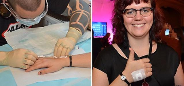 Una joven sueca se implanta un chip en la mano para no tener que llevar llaves
