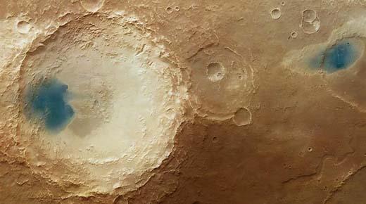 Agua cristalina en Marte