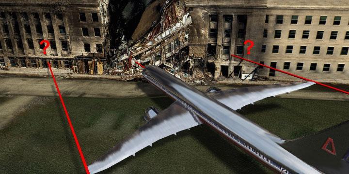 pentcrash1 ¿Un avión de pasajeros chocó contra el Pentágono?…¡Vaya mentira!