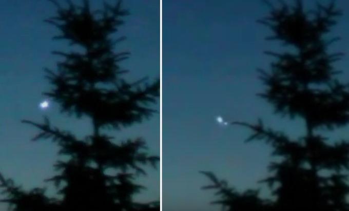 poloniaufo2 Captan en vídeo varios OVNIs sobre el bosque en Polonia