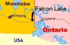 falconlakemap El incidente OVNI del lago falcon