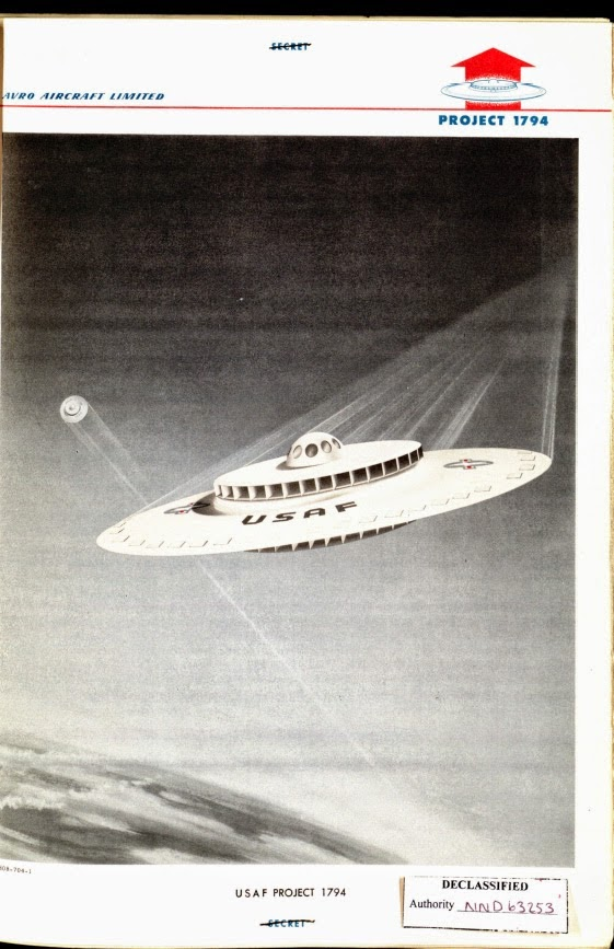 USAF desclasifica platillo volador de 1950