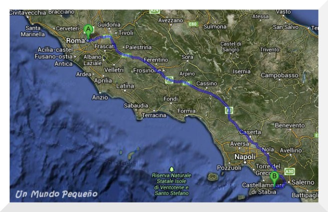 ruta roma-amalfi