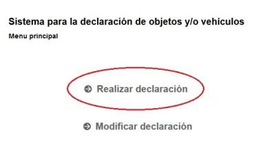 Declaración aduana 2