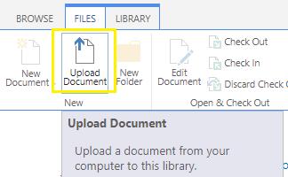 Sharepoint Upload Document Techbytes