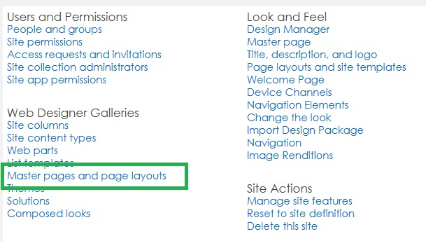 Navigation for SharePoint 2013 Document Library