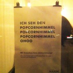 """Gelungene Werbekampagne des Neuen Maxim rund um den """"Popcornhimmel"""""""