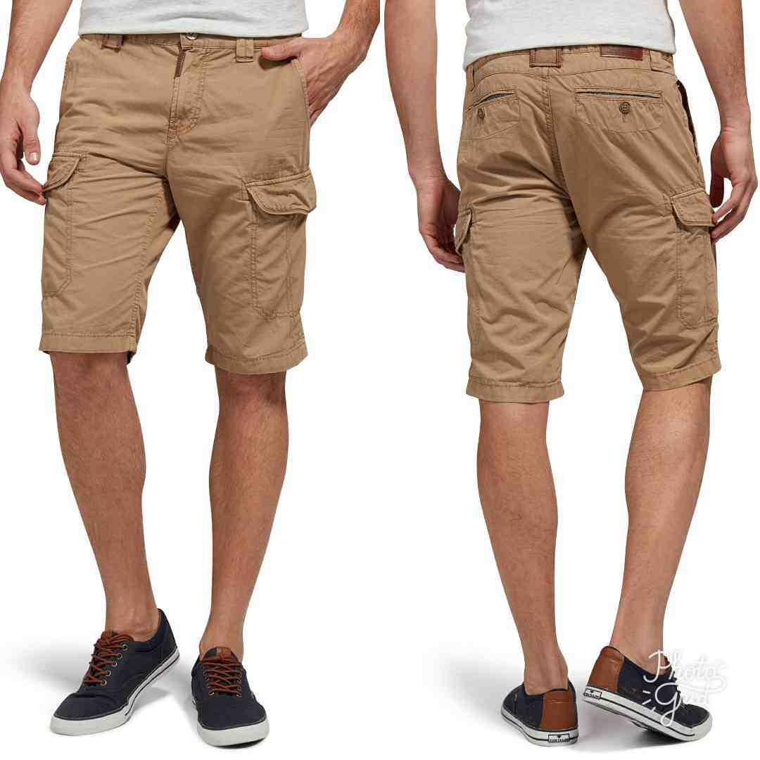 Tom Teiler Tom Tailor Jim Slim Bermuda Cargo Shorts Faded Leather Brown Original