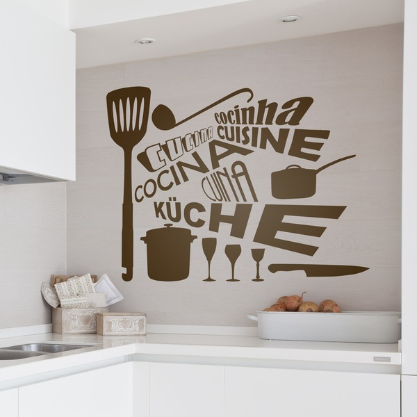 wall stickers kitchen languages personalised kitchen wall sticker decals