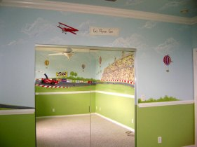 Race Car Mural -Boys Room Murals