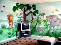 Jungle Mural,Children's Nursery Jungle Murals, South Florida,