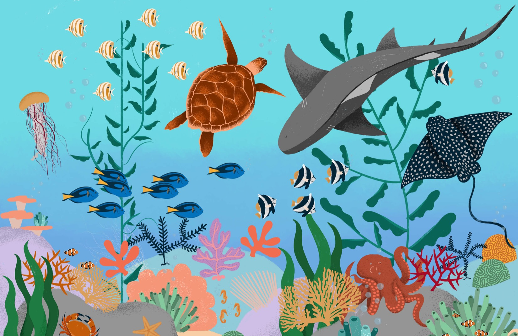 Childrens Wall Murals Wallpaper Under The Sea Childrens Wall Mural Muralswallpaper Co Uk
