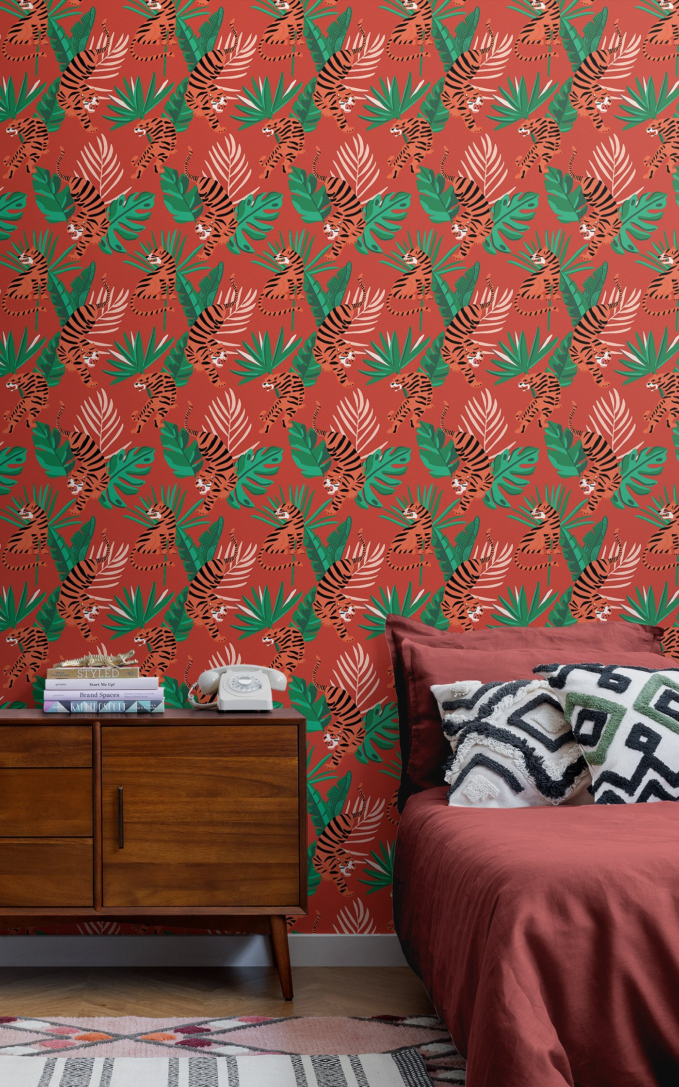 Esszimmer Modern Hell Wes Anderson Inspired Wallpaper For An Adventurous Interior Style