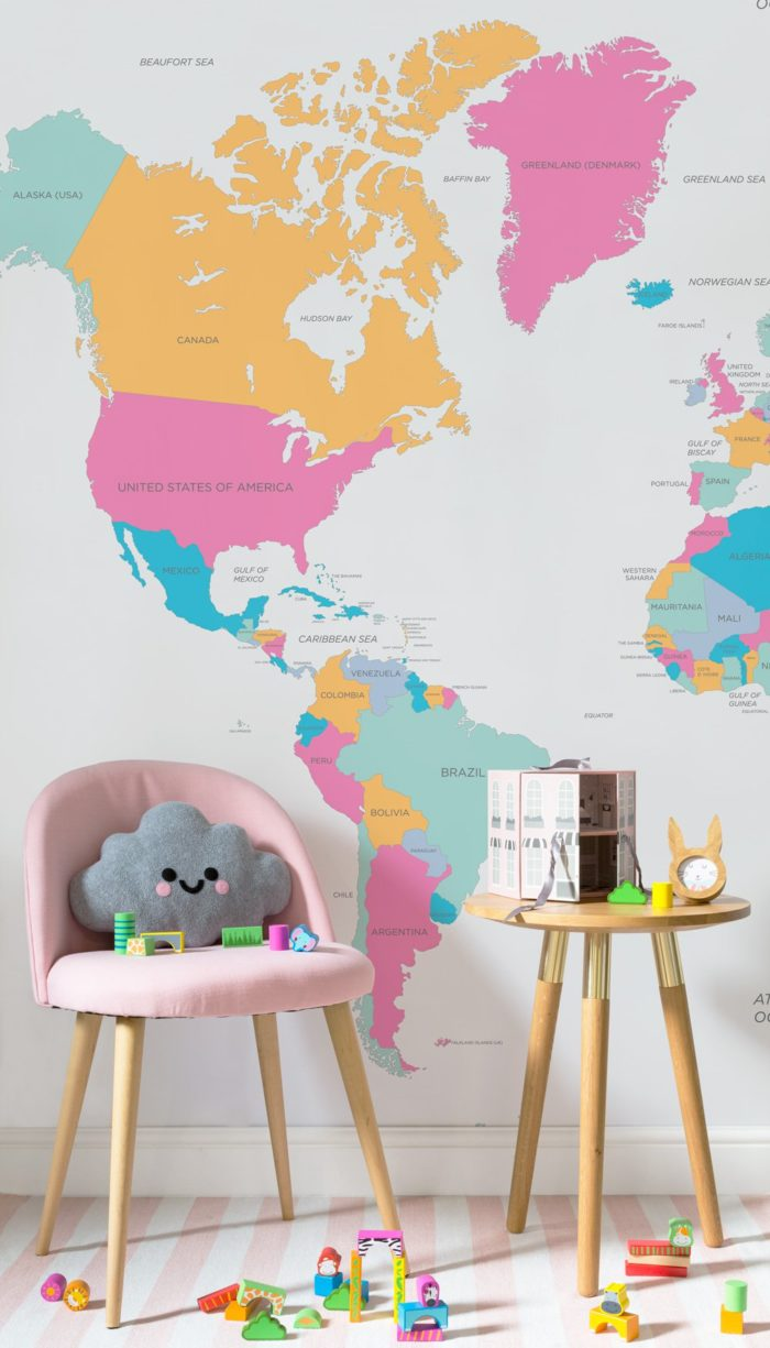 Jugendzimmer Usa Style Educational Map Wallpapers Great Ideas For Your Child S Space