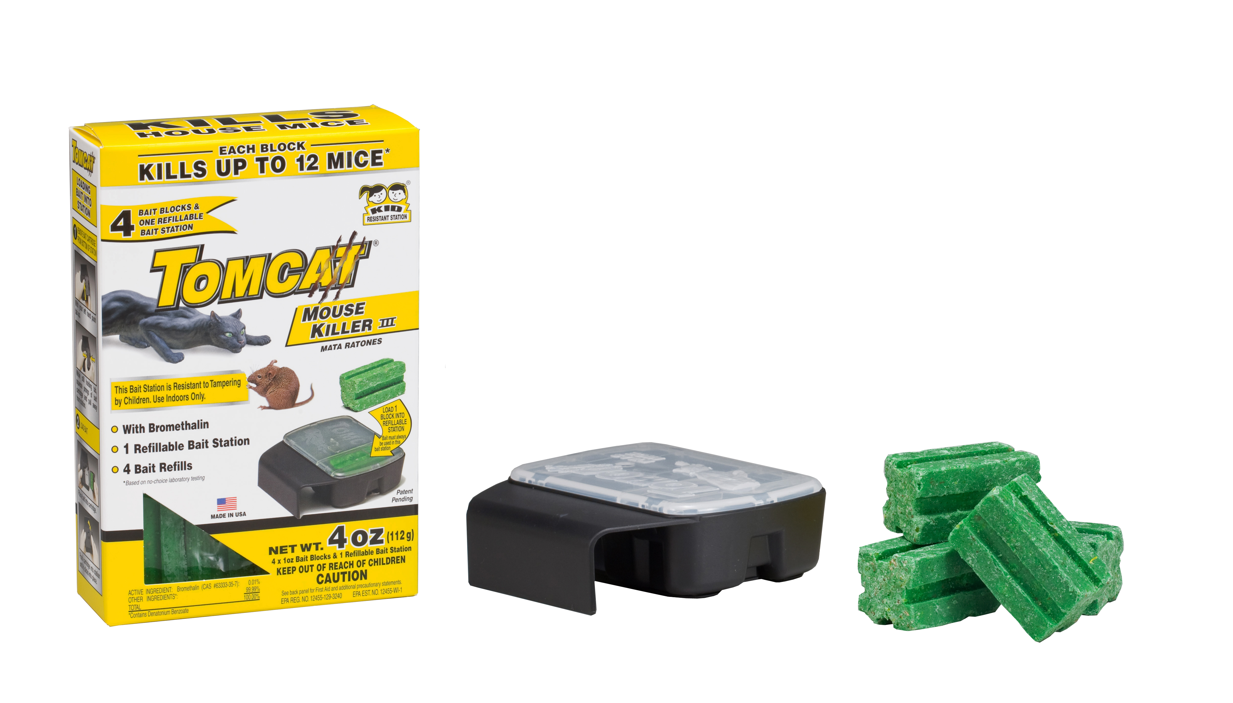 Mouse Bait Boxes Tomcat Mouse Killer Iii Bait Station