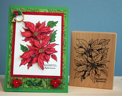 Polished to Perfection Make it 3-D - Poinsettia Christmas Card